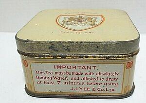 VINTAGE J. LYLE & Co. Ltd , OLD BOND STREET , LONDON - SAMPLE TEA TIN