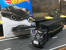 Custom Knight Rider Semi Truck AND New ~In Package~ Hot Wheels KITT Set