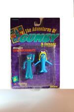 """Gumbitty Gumby & Goo 3"""" Bendable Set of 2 1996 Trendmasters Original Packaging"""