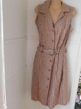Linen Dresses Stripes Midi