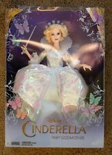 """DISNEY COLLECTOR'S DOLL CINDERELLA FAIRY GODMOTHER NEW SEALED BOX By MATTEL 11"""""""