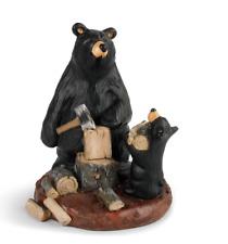 Big Sky Carvers Bearfoots Bears Daddy's Helper Figurine Demdaco # 3005080233