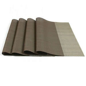 Set of 4 Insulation Bowl Tableware Placemats Place Mats Table Coasters Dining