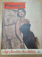 1955 PICTUREGOER FILM MAGAZINE Cover MARTA TOREN 30th June
