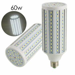 E27 E26 White Socket Screw Base LED Corn Light Lamp Bulb Outdoor Camp Garden 60W