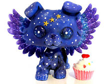 Littlest pet shop Ooak Collie Dog Galaxy Outer Space Custom with accessories