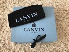 Lanvin Paris Blue Storage Shoe Box With Dustbag