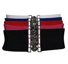 Five 5 Wide Cinch Belts Stretch Elasticated Vintage & Fashion Wear 8 - 18