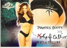 2013 Benchwarmer Pirates Booty Authentic Autograph Card Kayla Collincs 2/5 Butt