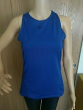 Nike Women's Pro All Over Mesh Tank Top Size Small S Blue Razorback Dri-Fit EUC