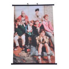 Kpop BTS Bangtan Boys Fabric Wall Hanging Scroll Poster Home Decor Fans Gift