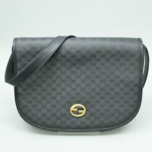 GUCCI Vintage Micro GG Pattern Coated Canvas Flap Shoulder Bag 004 115 0363 JUNK