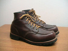 """Mens 10 Red Wing 4183 (8146) Roughneck Brown 6"""" Moc Toe Work Boots, Excellent!!"""