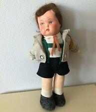Rare Vintage Hummel ? cloth doll Hiker girl / boy