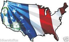 USA STATUE LIBERTY STICKER UNITED STATES MAP FLAG BUMPER STICKER #2