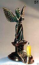 Candle Holder Guardian Angel Bronze color church Подсвечник Ангел Хранитель 9 cm