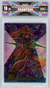 🌟 Deadpool 1995 Fleer Ultra X-Men Chromium Signature Series #51 9.5 Mint+