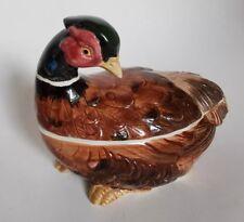 Fitz and Floyd Covered Dish Small Tureen Wild Fowl Bird Pheasant 1990