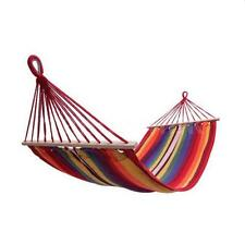 Outdoor Cotton Striped Hanging Hammock Rope Chair Porch Swing Seat Camping