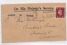 BM73 GB WW2 NAVAL MAIL 1939 London Machine *PASSED BY CENSOR* {samwells-covers}