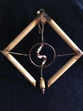 Decorative Mobile Bamboo, Copper, Leather, wood beads