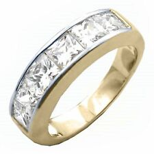 14K GOLD EP 3.0CT DIAMOND SIMULATED ANNIVERSARY RING size 9 or R 1/2