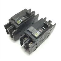 Lot of 2 Square D QOU210 Circuit Breaker, 2-Pole, Rating: 10A 120/240VAC