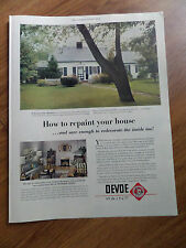 1951 Devoe Paints Ad  One-Coat House Paint In Kansas City Missouri