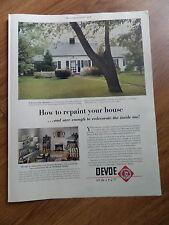 1951 Devoe Paints Ad  One-Coat House Paint In Kansas City Missouri