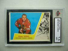1963/64 TOPPS NHL HOCKEY CARD #26 ELMER VASKO NM+ KSA 7.5 SHARP!! 63/64 TOPPS