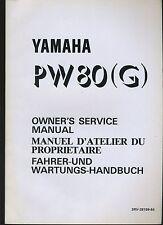 (22B) REVUE TECHNIQUE MANUEL ATELIER MOTO YAMAHA PW 80 (G)