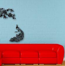 Wall Stickers Vinyl Decal Peacock Bird Tree Excellent Room Decor (ig688)