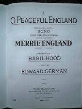 GERMAN 'O Peaceful England' from Merrie England Solo or Unison pub. Chappell