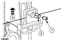 Lincoln 2000-2006 - Rear Regulator Glass Peg and Dowel to connect clip and glass
