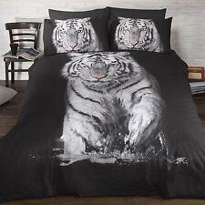 Tigre Blanc simple Ensemble de couverture & taie d'oreiller couette literie