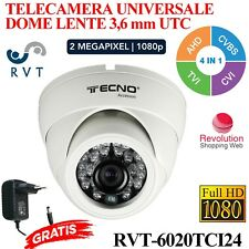 TELECAMERA DOME 3,6 MM  24 LED ANALOGICA E DIGITALE UNIVERSALE FULL HD 2 MPX TOP