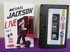 MICHAEL JACKSON LIVE 84 Cassette Tape  INDONESIA + Lyric Sleeve GREAT PICS