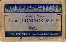 Catalogue CONINCK Maison-Laffitte Construction Navale Bateau Canot Vedette 1900