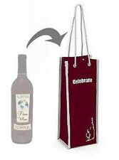 Insulated Wine Bottle Bag Wine Cooler Tote Beverage Cooler Champagne Gift Bag