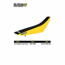 2007-2009 SUZUKI RMZ 250 Yellow/Black FULL GRIPPER SEAT COVER BY Enjoy MFG
