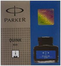 Parker Quink Fountain Pen Ink Bottle 30ml BLUE Color - PARKER GENUINE PRODCT