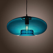 Ceiling Hanging Blue Glass Pendant Lamp Modern Bubble Design CH Light Fixture