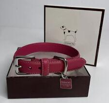"COACH Leather Fuchsia Dog Collar SZ S 11""-13"""