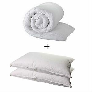 SINGLE DUVET QUILT AND 2 PILLOWS - SINGLE 13.5 TOG QUALITY QUILT AND 2 PILLOWS