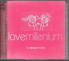 2 CD COMPIL 32 TITRES--LOVE MILLENIUM BY BRUCE MERITTE--DION/SADE/CLIFF/SANTANA