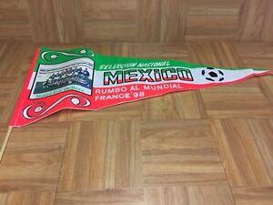 Vintage🔥 France 1998 FIFA's World Cup Mexico's Pennant Tricolor Era De Bora VTG