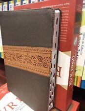 Biblia Letra Súper Gigante, 1960 reina Gris Piel Fabricada con índice  17 punt