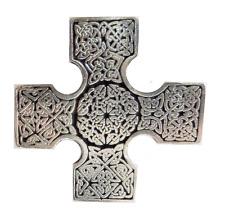 CROIX CELTIQUE étain Badge à épingle - fabriqué à la main Cornwall