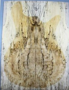 5A Spalted Maple Wood Bookmatch LUTHIER MASTER GUITAR TOP SET
