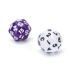 D30 Dice Opaque Colors Multi Resin Polyhedral For Sides Dice for Game WhiteeVc